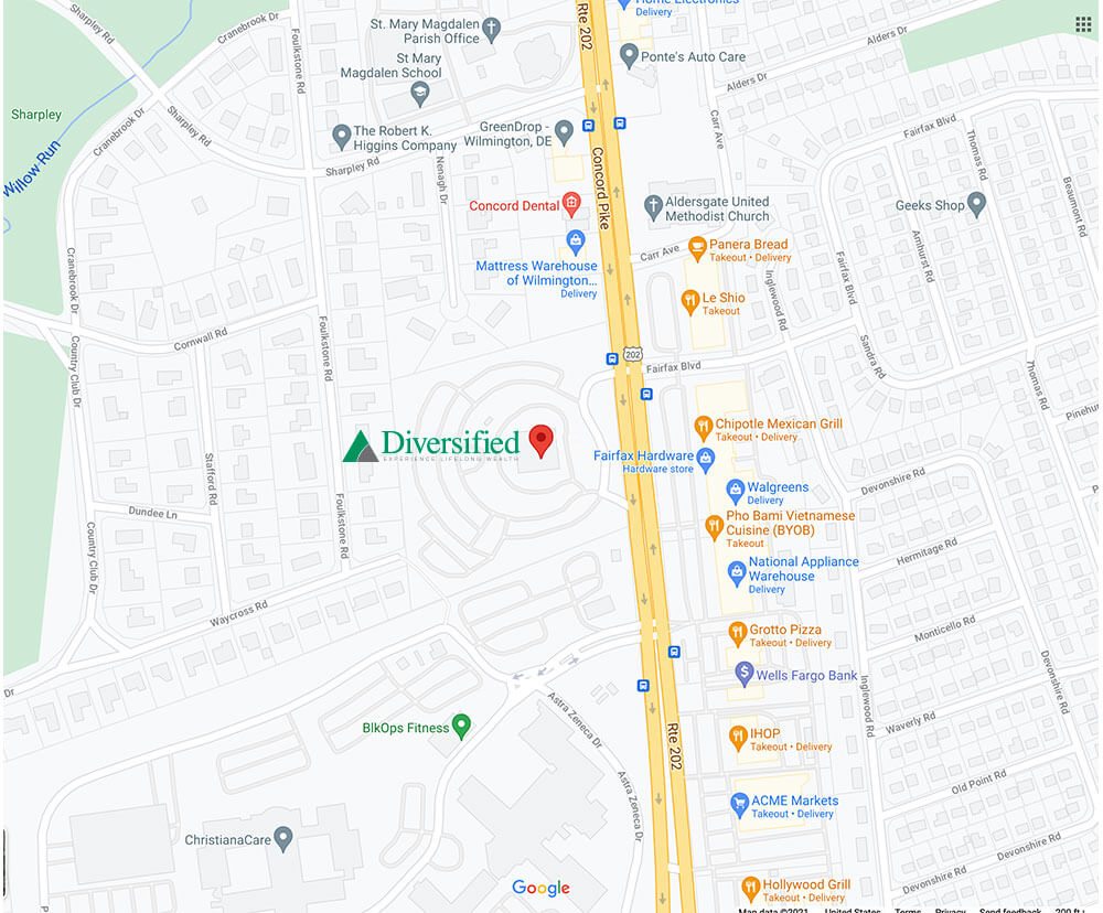 Locations | DE & PA Financial Advisors | Diversified
