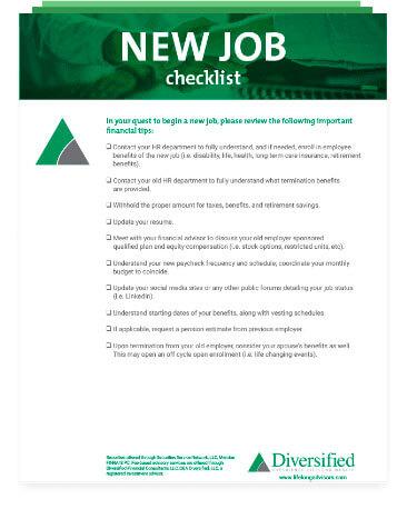 Newj Job checklist image