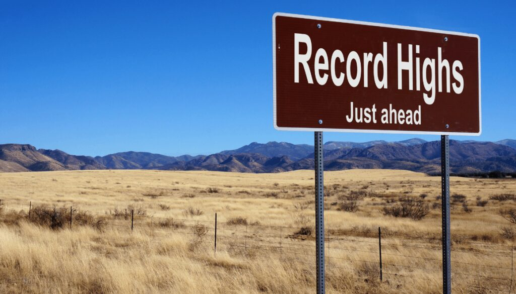 markets hit record highs